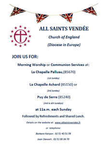 Join All Saints Vendee